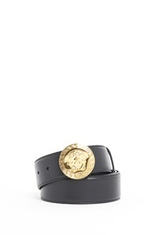 VERSACE Leather belt with 'Medusa' logo on buckle