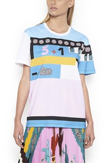 VALENTINO cotton crew neck t-shirt with 'counting' print