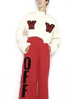 OFF-WHITE Baggy Sweater with 'WW' prints