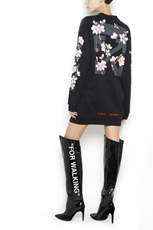 OFF-WHITE 'Diag cherry' printed sweater dress