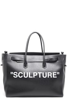 OFF-WHITE XL Tote with 'Sculpture' Print