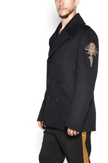 ALEXANDER MCQUEEN Coat with buttons closure and gold patch on shoulder