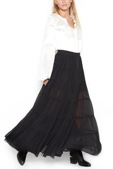 WANDERING Silk Georgette long Skirt