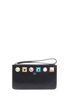 FENDI 'Rainbow' Flat Pouch Wallet