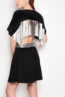 J.W.ANDERSON Crepe draped dress with chainmail waist panel