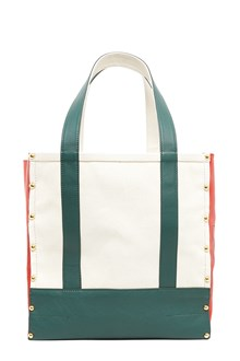SACAI Tote with Leather Details