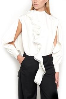 GIACOBINO Shirt with Ruffles and Lace