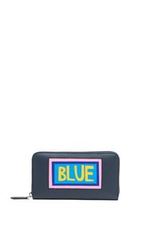FENDI 'Fendi Words-Blue' Wallet