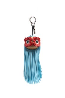 FENDI Bag Charm with Long Hairs and Flowers Eyes