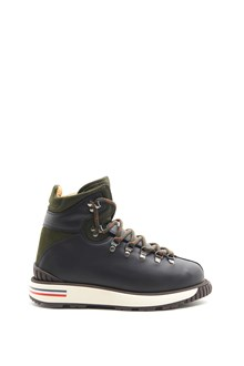 MONCLER Leather Peakgeoffroy Ankle Boots