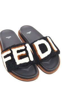 FENDI Mutton Slides with Logo