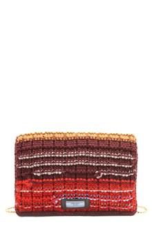 PRADA knitting clutch with chain