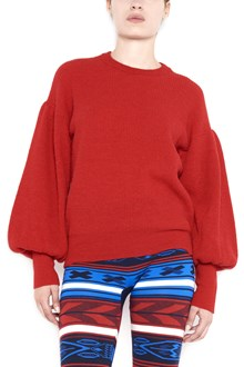 LANEUS crew neck sweater with puffed sleeves