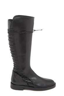 ANN DEMEULEMEESTER Calf Leather Boots with Laces