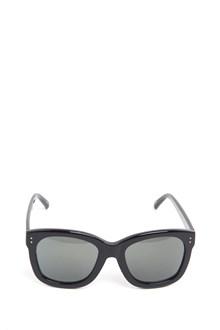 LINDA FARROW  Acetate black sunglasses