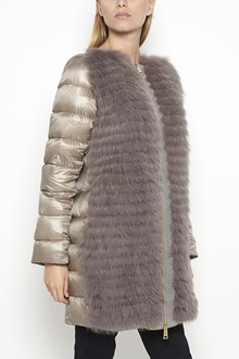 HERNO Down Jacket with fox fur and detachable sleeves and neck