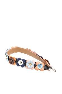 FENDI Multicolor shoulder strap with silver studs