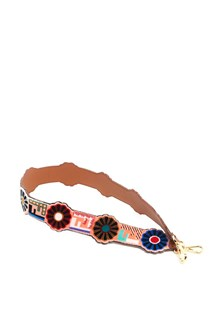 FENDI Shoulder Strap with Logo and Flowers