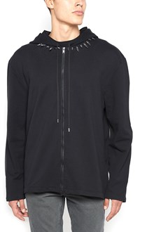 Helmut lang Hoodie with studs collar