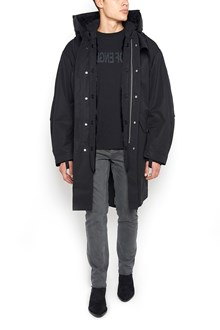 Helmut lang Down Jacket with Hood and Fur Inside