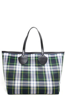 BURBERRY Checked tote with leather handle