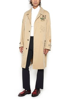 BURBERRY 'Car Coat' trench Coat with print designs