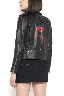 SAINT LAURENT Jacket with 'Slow Kissing' back print