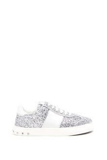 VALENTINO GARAVANI 'Fly Crew' glittered sneakers with studs on sole