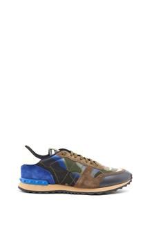 VALENTINO GARAVANI Camouflage printed leather sneakers