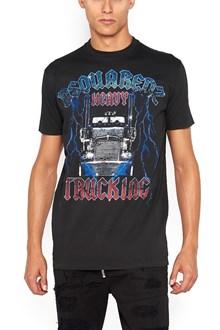 DSQUARED2 'Grunge' printed cotton t-shirt