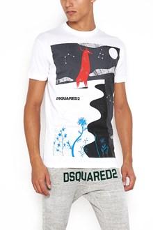 DSQUARED2 'Hiking mountain' printed cotton t-shirt