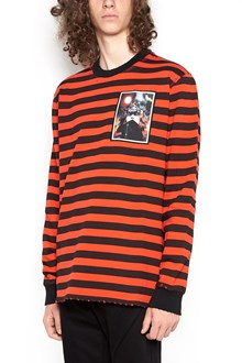GIVENCHY Destroyed striped sweatshirt with patch