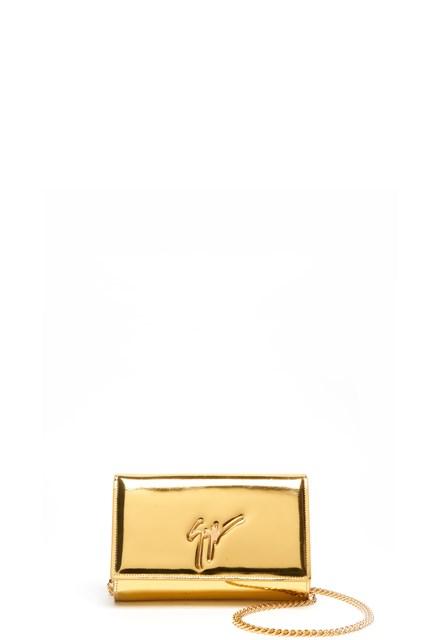 GIUSEPPE ZANOTTI Clutch with metal logo