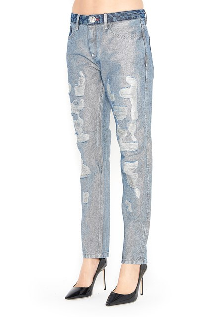 Boyfriend jeans with skull prints on the pockets Philipp Plein sMUgsQi