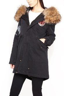 MR & MRS ITALY print and embroidery parka