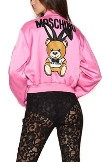 MOSCHINO Bear printed bomber jacket