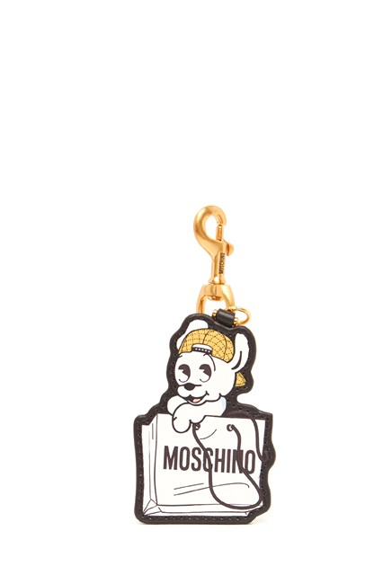 MOSCHINO 'pudgy' keyring