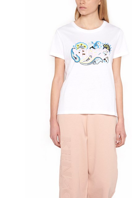 KENZO logo and flower t-shirt