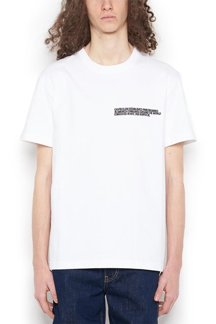 Calvin klein w nyc embroidered logo t shirt