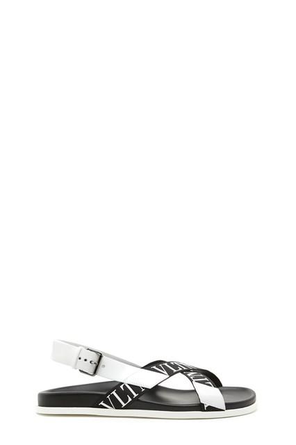 vlnt shoes from valentino garavani: leather logo tape vlnt sandals Valentino 0KzUDa